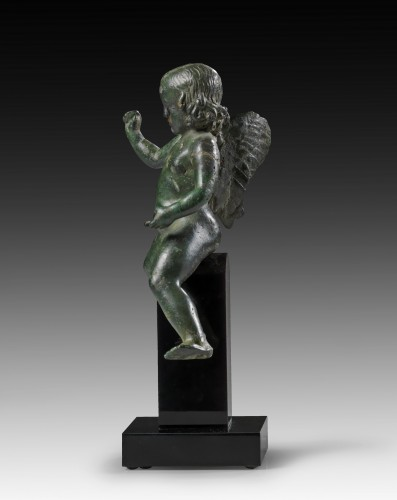 Bronze figure of Eros riding a dolphin, Roman Empire, 2nd Century A.D. - Ancient Art Style
