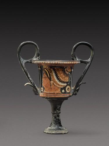 Kantharos Group, An Apulian Red-figured Kantharos, circa 350-330 B.C - Ancient Art Style