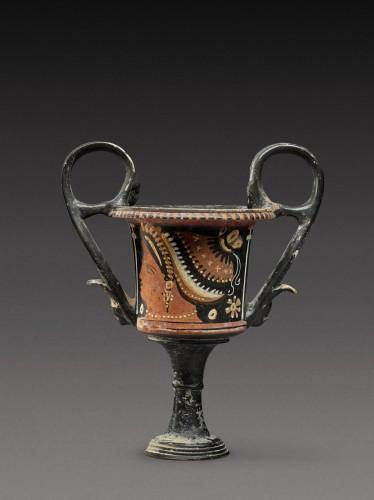 Ancient Art  - Kantharos Group, An Apulian Red-figured Kantharos, circa 350-330 B.C