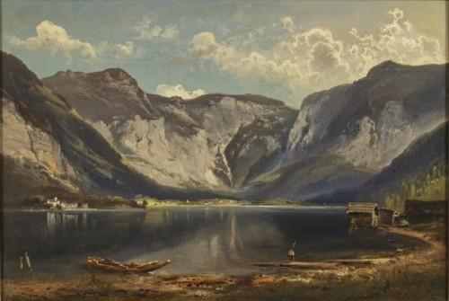 View of Hallstatt - Feldhütter Ferdinand (1842-1898)