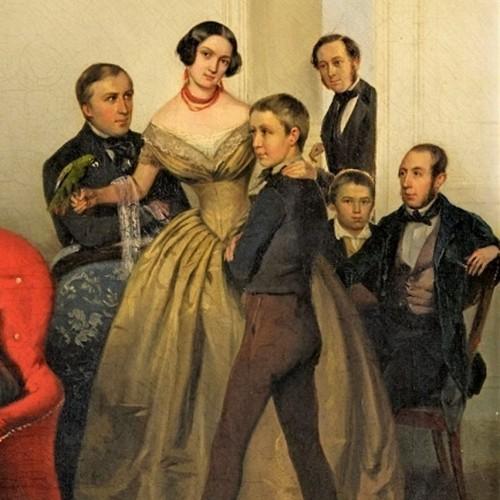 Portrait of the family of Dutchess Ozarowska Adèle (born Matthiessen) - Georg von Bothmann (1810-1891) -