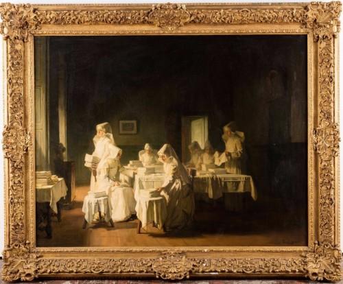 The nuns at the Hôtel Dieu de Beaune - Bail Joseph (1862-1921) - Paintings & Drawings Style