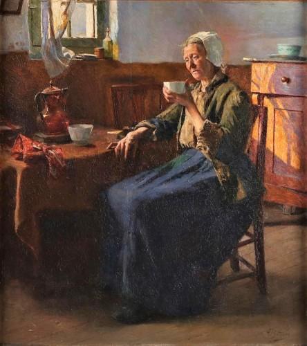 The old fisherman woman  - Aloïs Boudry (1851-1938)
