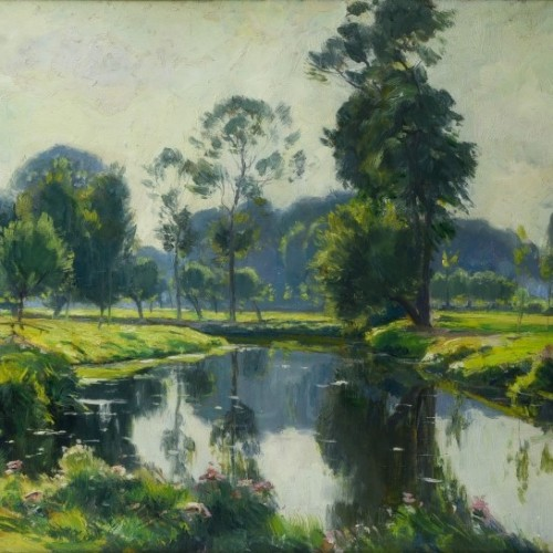 The Zenne near Beersel  - Louis Clesse (1889-1961) - Paintings & Drawings Style