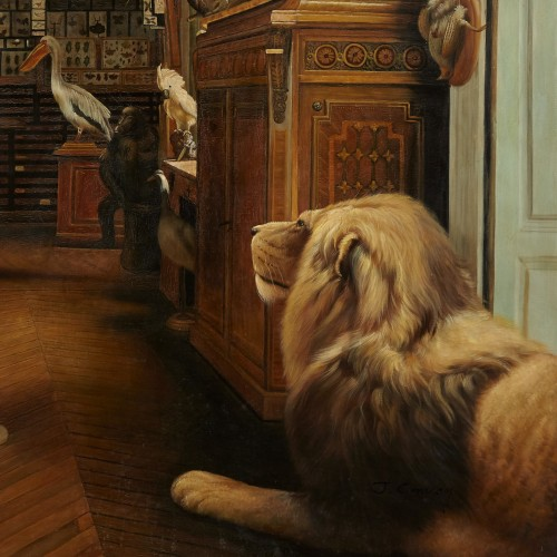 The workshop of a Taxidermist - J. Convey  -