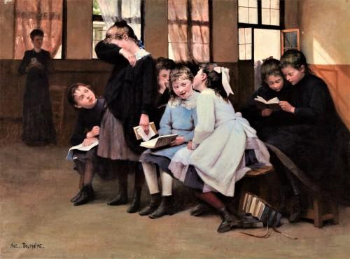 En retenue - Auguste Trumphème (1836-1898)