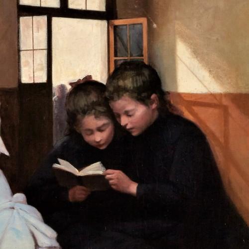 En retenue - Auguste Trumphème (1836-1898) - Paintings & Drawings Style