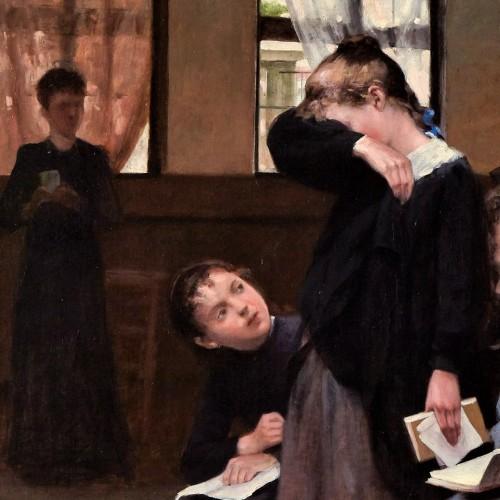 Paintings & Drawings  - En retenue - Auguste Trumphème (1836-1898)