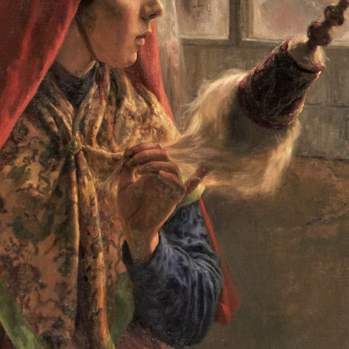 Paintings & Drawings  - The Moroccan yarn spinner - Lacoste J. Edward