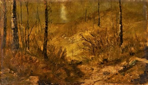Autumn landscape in the forest - Ernest Meissonier (1815-1891)