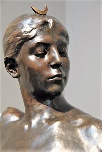 Bust of Diana - Alexandre Falguière (1831 - 1900) - Sculpture Style