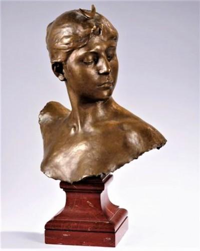 Sculpture  - Bust of Diana - Alexandre Falguière (1831 - 1900)