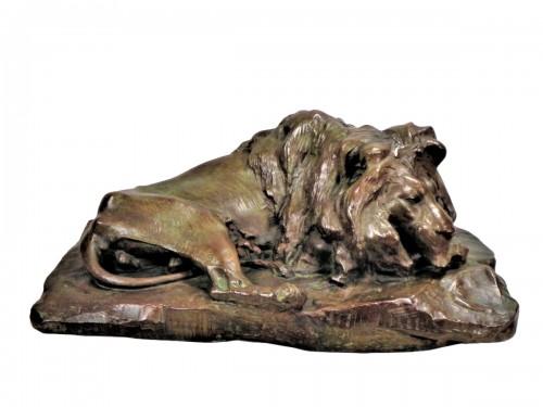 Old Lying Lion - Josuë Dupon (1864-1935)