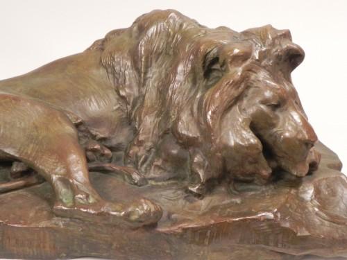 Old Lying Lion - Josuë Dupon (1864-1935) -