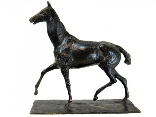 Horse walking at a high pace: After Edgar Degas (1834 – 1917)