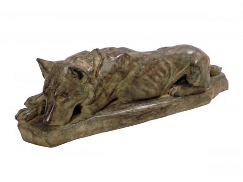 Lying German Shepard Dog Georges-Lucien Guyot — (1885-1973)