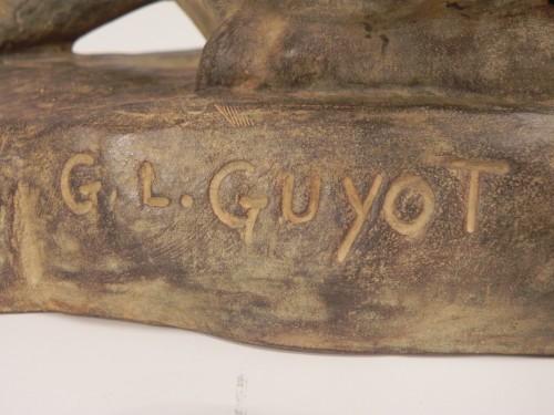 Sculpture  - Lying German Shepard Dog - Georges-Lucien Guyot (1885-1973)
