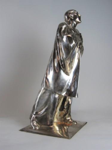 Pierrot / Mime Deburau André César Vermaere (1869-1949) - Sculpture Style Art Déco