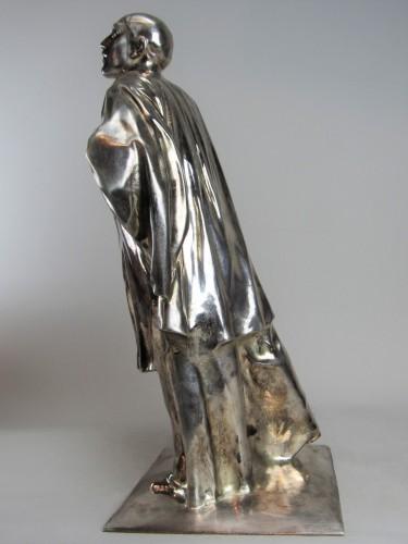 Sculpture  - Pierrot / Mime Deburau André César Vermaere (1869-1949)