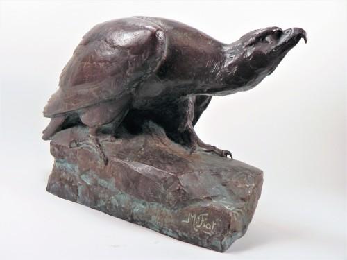 Eagle on a rock (1925) - Maximilien Fiot (1886-1953) - Sculpture Style