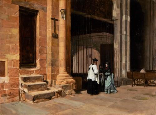 Church interior -  Mélida y Alinari Enrique, (1838 - 1892)