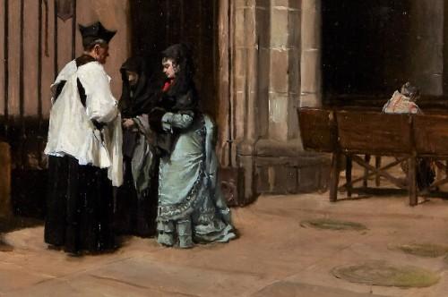 Church interior -  Mélida y Alinari Enrique, (1838 - 1892) - Paintings & Drawings Style