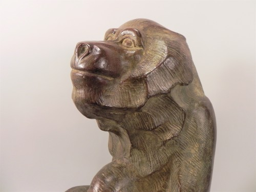 Sitting Baboon - Akop Gurdjan (1881-1948) - Sculpture Style