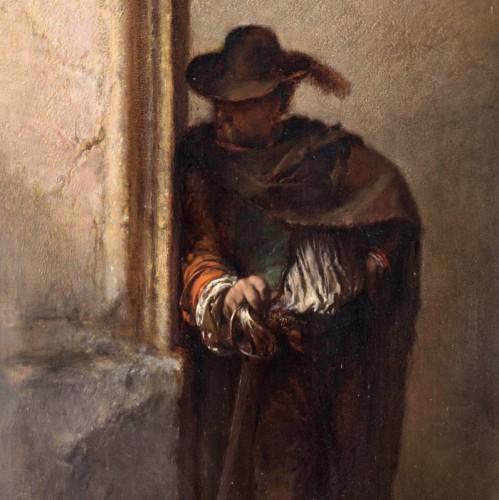 The Vagabond Spy  -  Duwez Henri-Joseph (1810-1884) - Paintings & Drawings Style Napoléon III