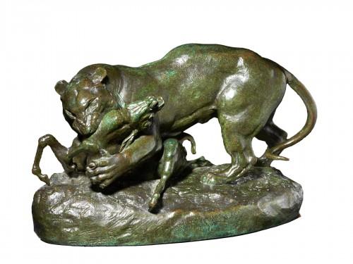 Tiger surprising an antelope - Antoine-Louis Barye (1796-1875)