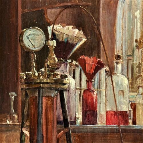 Paintings & Drawings  - Le Laboratoire, 1891 -  Olivié-Bon Léon (1863-1901)