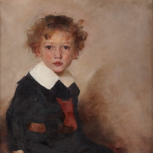 Portrait of a young boy - Paintings & Drawings Style Art nouveau