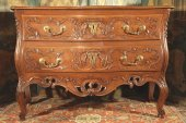 "18thc ""sauteuse"" commode (chest of drawers)  said ""with lunette"", in walnut wood. from nîmes."