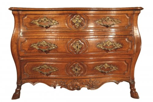 "18thc Louis XV ""commode tombeau""(chest of drawers)"