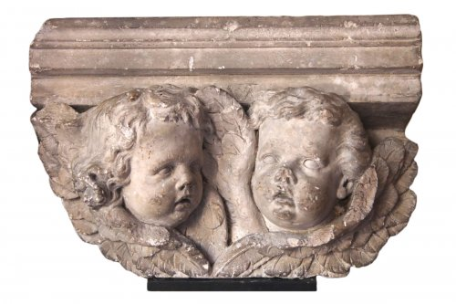17th c part of a console carved in high relief