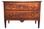 18th c  Louis XVI marriage commode (chest of drawers) in walnut wood.from nîmes (provence).