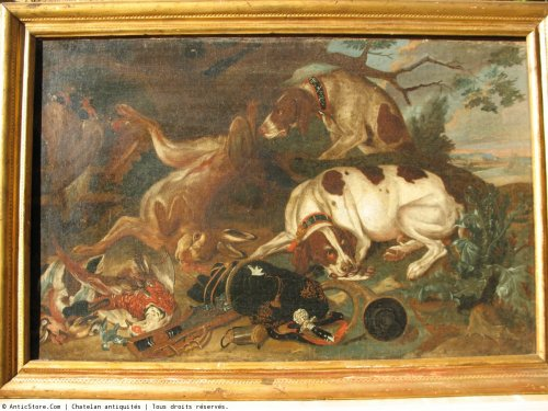 From a pair of oils on canvas. hunting scenes.  17thc  flemish school. - Paintings & Drawings Style