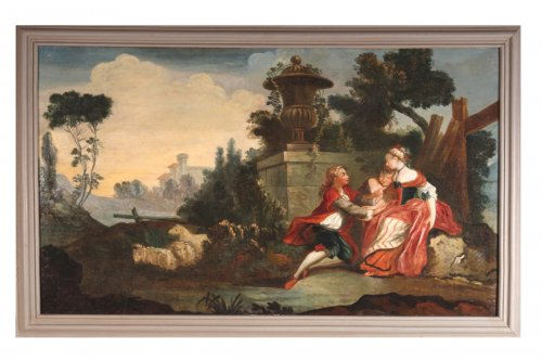 18th c french school  oil on canvas