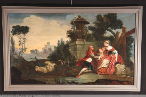 18th c french school  oil on canvas - Paintings & Drawings Style