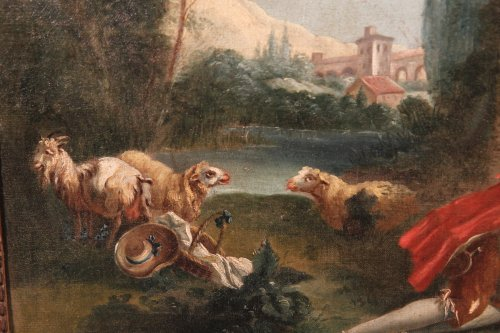 Paintings & Drawings  - 18th c french school . « galant scene  »