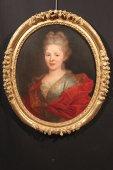 """18th c french school """"half-length portrait of a lady"""""""