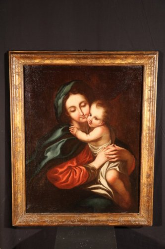 """Paintings & Drawings  - Oil on canvas 18th C Italian School """"Virgin and Child"""""""