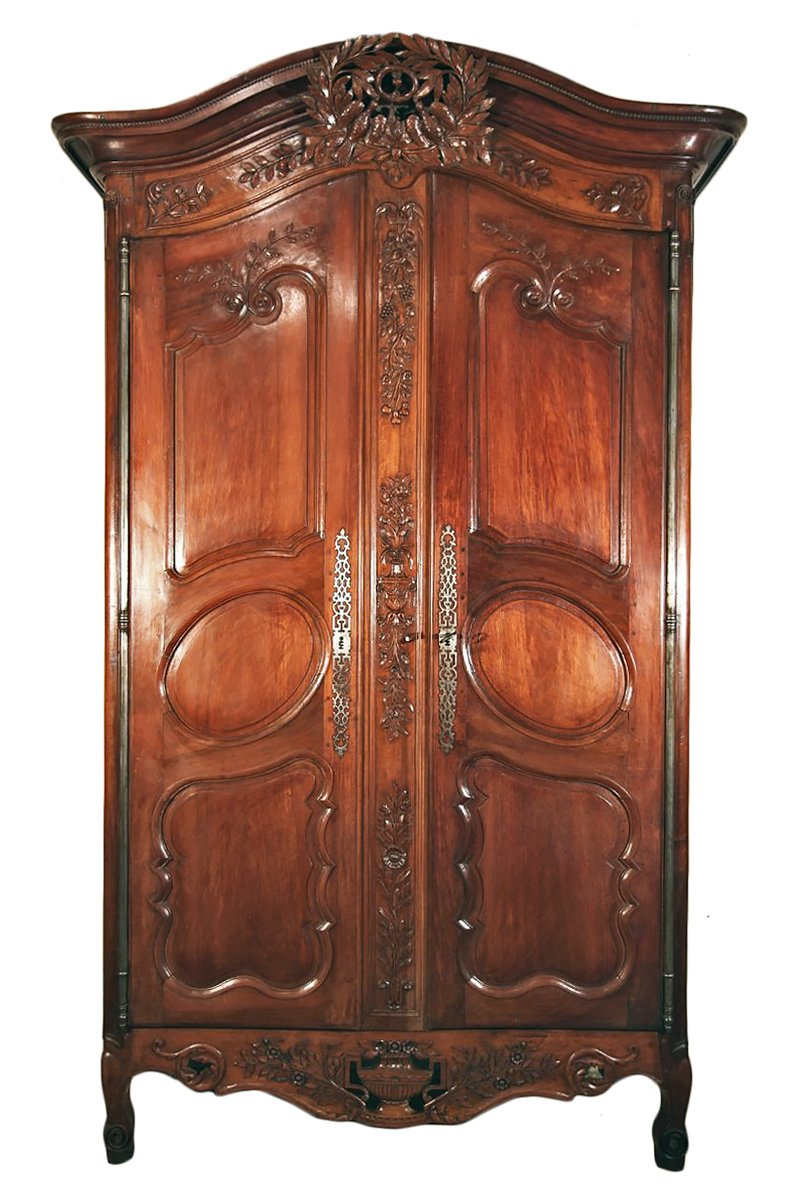 End of 18th c marriage armoire in walnut wood from n mes - Armoire mariage chinoise ...
