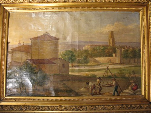 "End of 18thC French school ""Bridge over Arc river in Aix en Provence"". - Paintings & Drawings Style"
