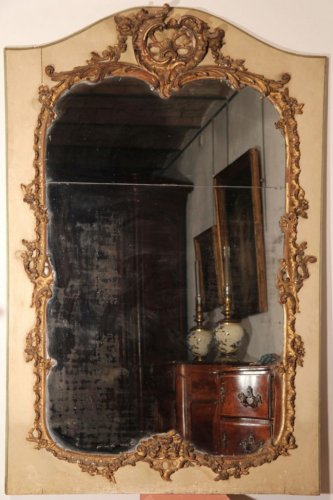 Louis XV trumeau-mirror, 18th century