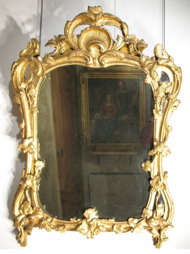 18th C  Louis XV mirror in gilt wood. From Provence
