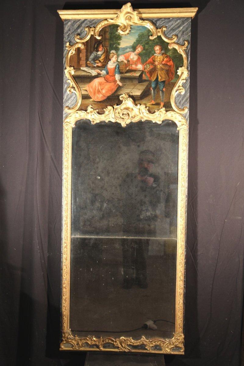 Trumeau louis xv en bois sculpt provence poque xviiie for Miroir xviii