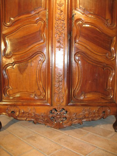 18thC marriage armoire -