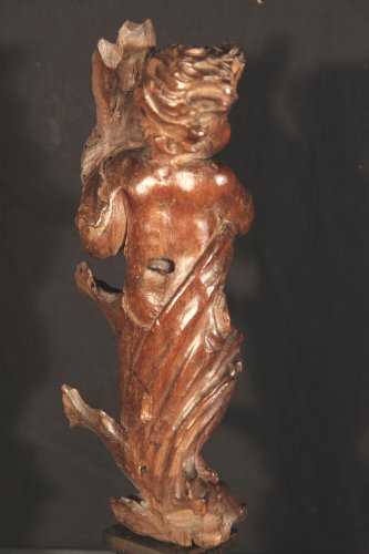 Sculpture  - 17th C Statuette in carved wood