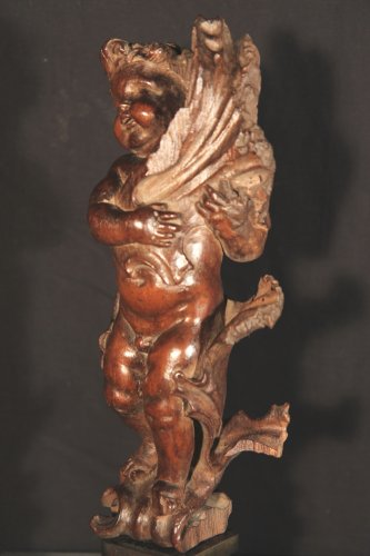 17th C Statuette in carved wood -