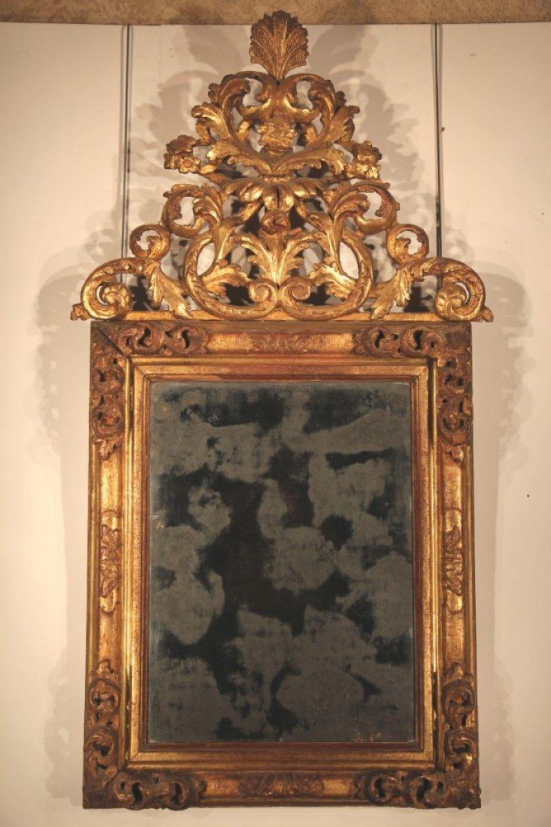 Miroir fronton poque xviiie for Miroir xviii